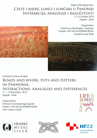 Invitation to Round table: Roads and rivers, pots and potters in Pannonia.